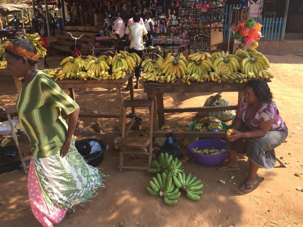 Banana street in the Kitgum local market