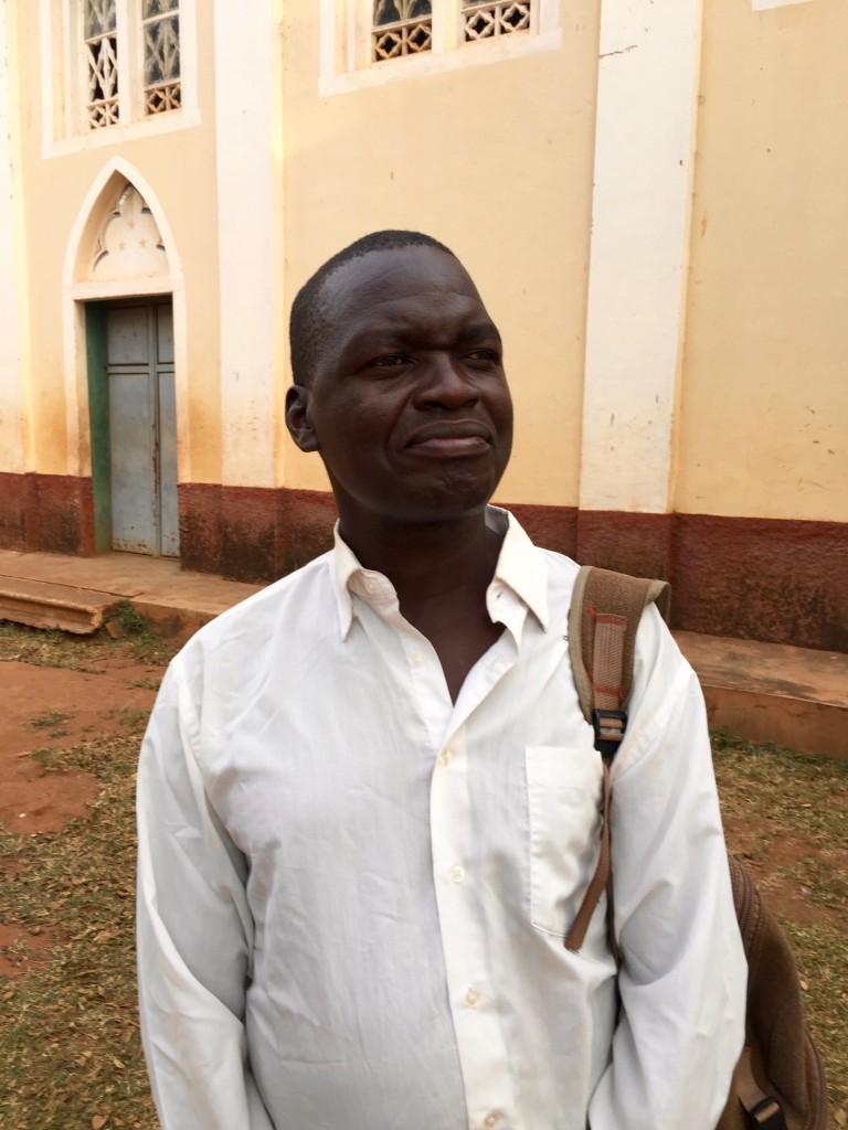 Otema Peter now works full time at the sunflower press in addition to being a major farmer in the parish.